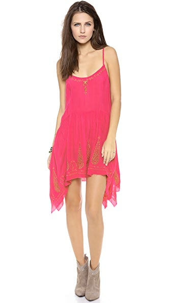 Free People Embroidered Meadow Slip