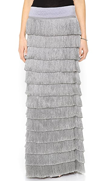 Free People Snowdrift Fringe Maxi Skirt