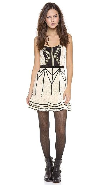 Free People Lace Coquette Mini Dress