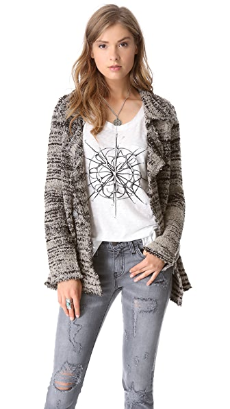 Free People Zebra Blazer