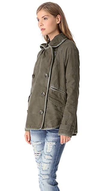 Free People Tipped Canvas Car Coat