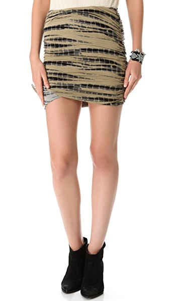 Free People Tie Dye Scrunch Skirt