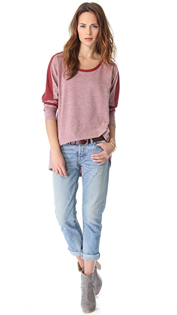 Free People Colorblock Top