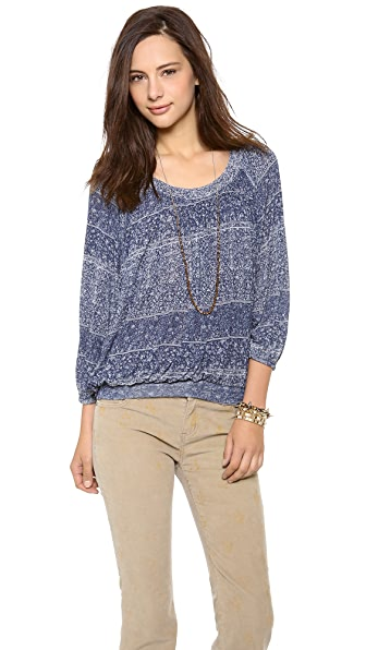Free People Moss Printed Top