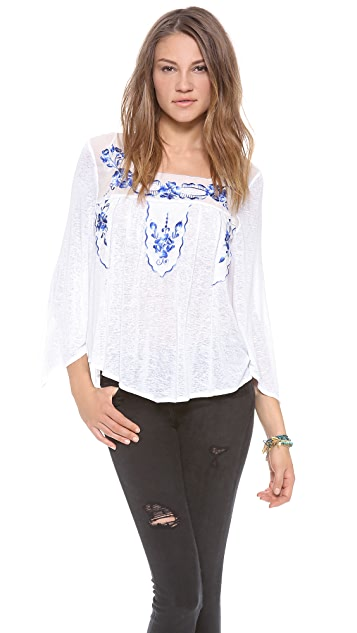 Free People Bed of Roses Top