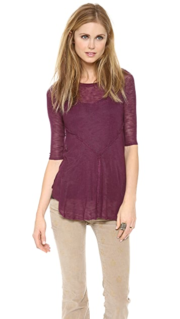 Free People Weekends Layering Top