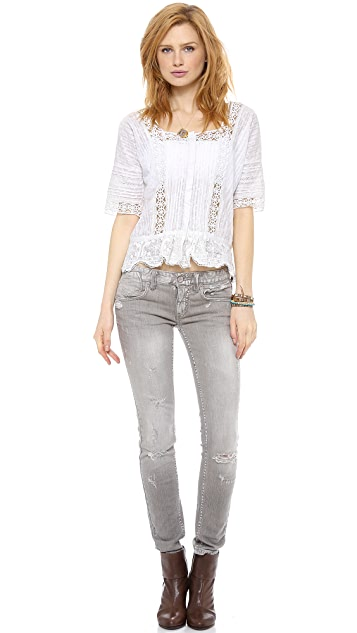 Free People Sweet Jane Peplum Top