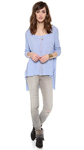 Free People Lace Road Pullover