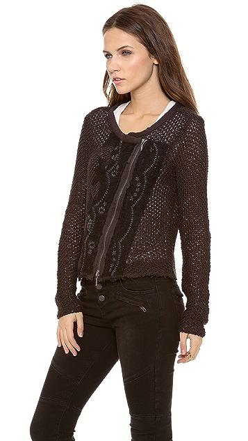 Free People Femme Fetale Moto Sweater