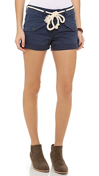 Free People Nautical Cuffed Shorts