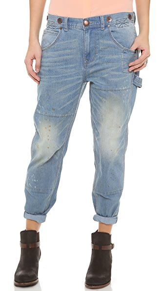 Free People Boyfriend Carpenter Jeans