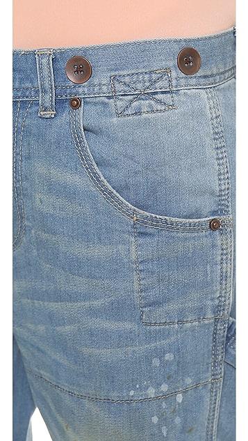 Free People Boyfriend Carpenter Jeans