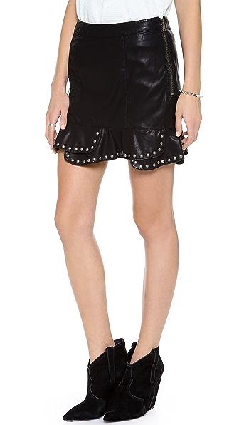Free People Moon Flower Faux Miniskirt