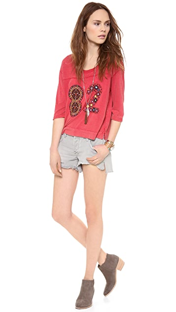 Free People Varsity Palm Tee