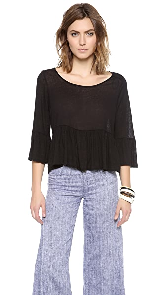 Free People Sue's Swinging Peplum Top