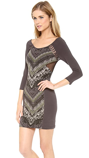 Free People Out of Africa Long Sleeve Dress