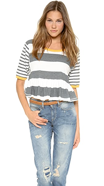 Free People Boxcar Crop Tee