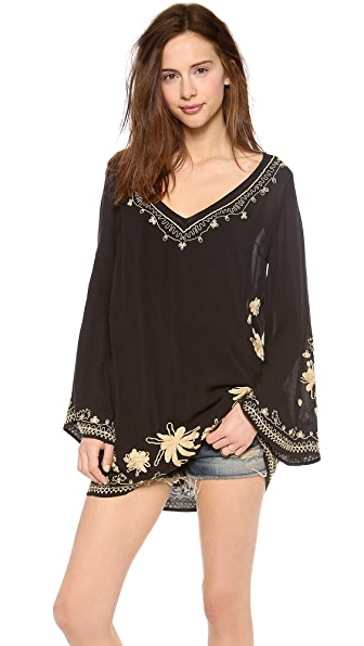 Free People Sky Fall Embellished Tunic