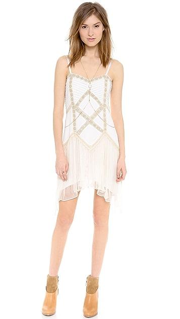 Free People Lace Lattice Party Dress