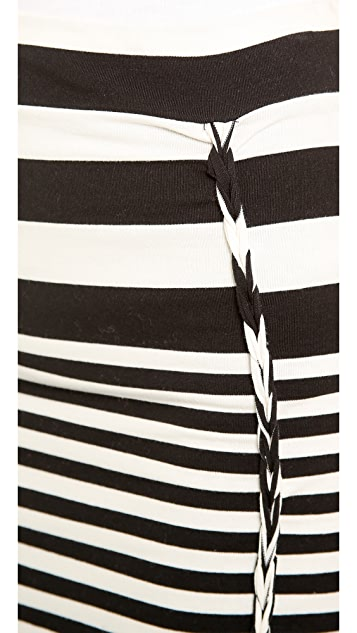 Free People Striped Lot O Knots Skirt