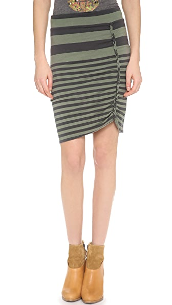 Free People Striped Lot O Knots Skirt