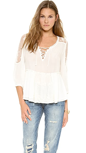 Free People Romance of the Rose Top