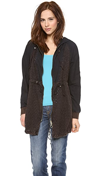 Free People Washed Eyelet Anorak