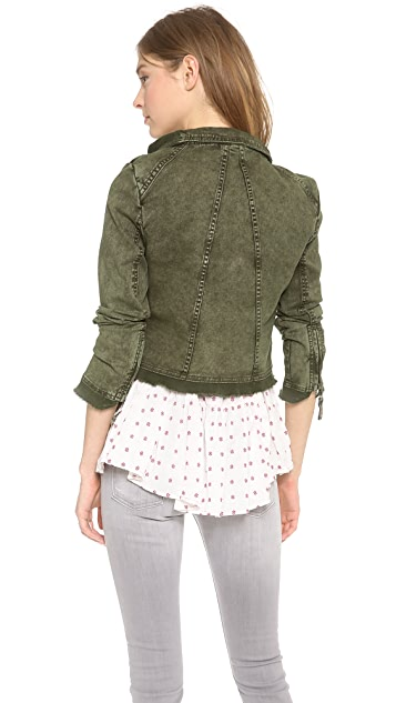 Free People Collapsing Twill Jacket