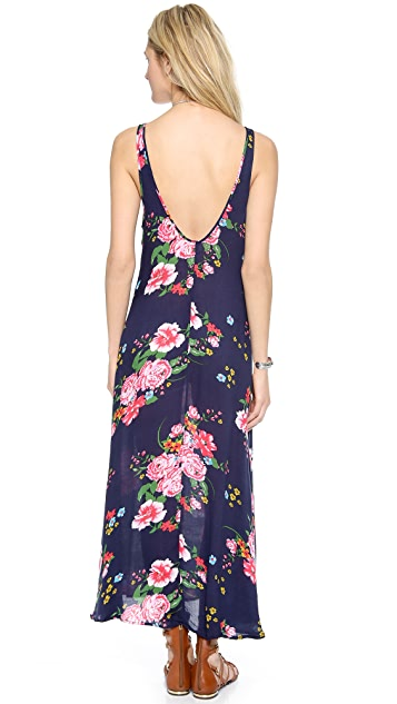 Free People Cinched Printed Maxi Dress