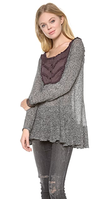 Free People Candy Yoke Pullover