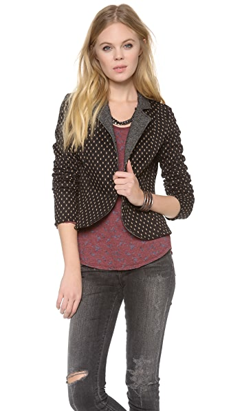 Free People Polka Dot Blazer