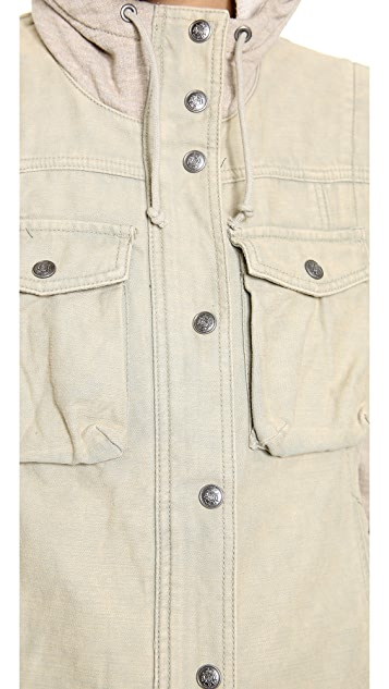 Free People Layered Slub Jacket