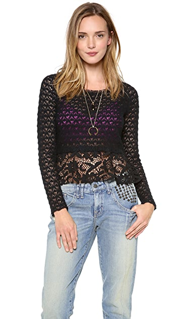 Free People Open Back Pullover