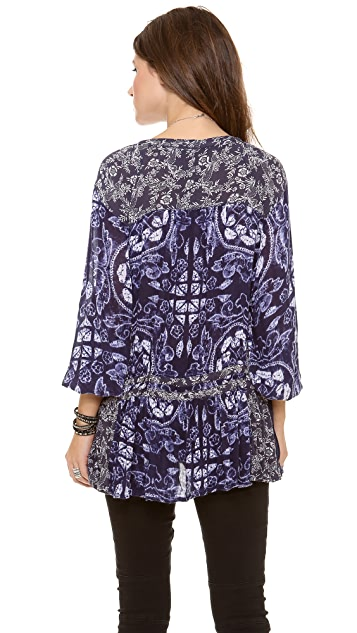 Free People Ratio Print Tunic