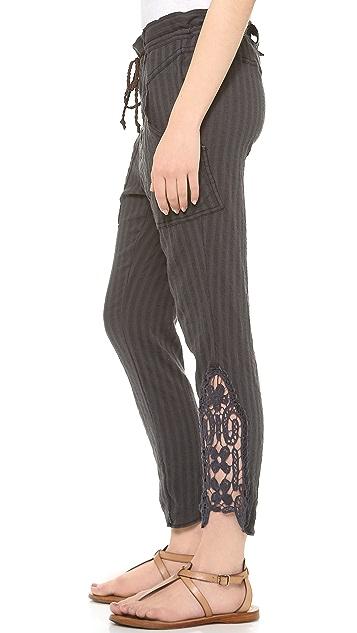 Free People Crochet Hem Harem Pants