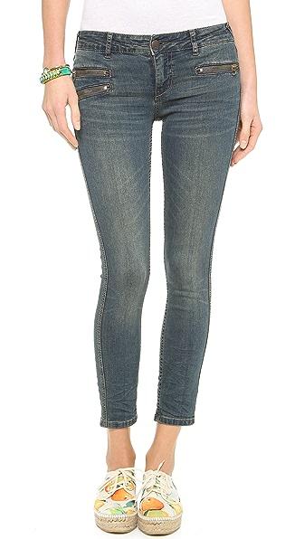 Free People Zip Ankle Crop Jeans