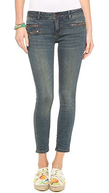 Free People Zip Ankle Crop Jeans