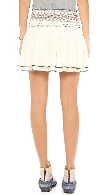 Free People Lip Smocking Good Skirt