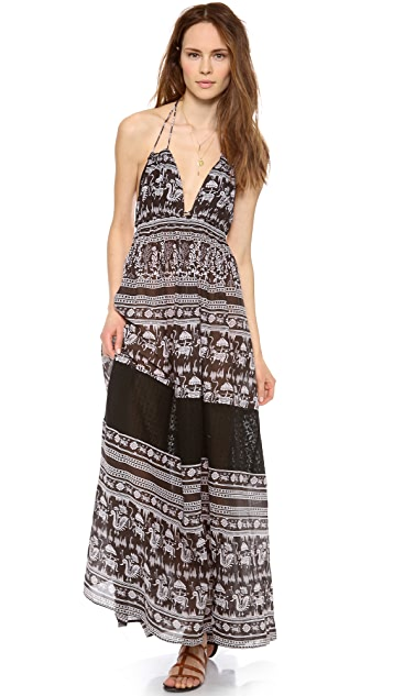 Free People Printed Triangle Top Maxi Dress