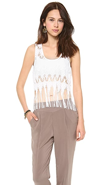 Free People Fringe Lace Cami