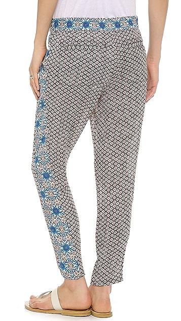 Free People Mixed Print Pleat Pants