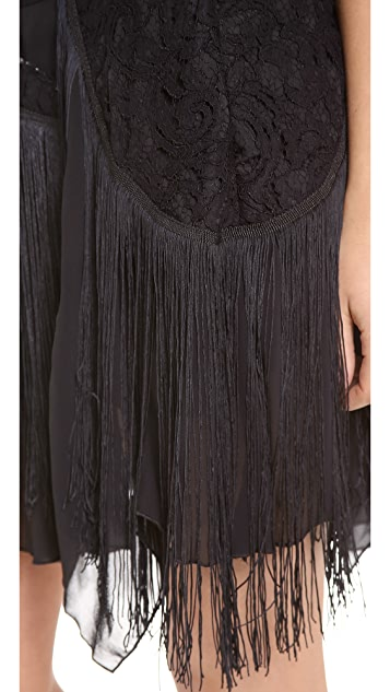 Free People Foam of Daze Fringe Skirt
