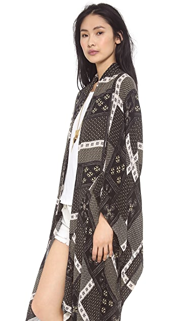Free People Festival Scarf Print Duster
