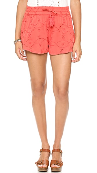 Free People Eyelet Embellished Shorts