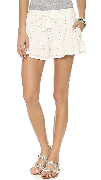 Free People Eyelet Embellished Shorts