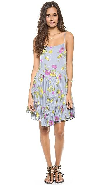 Free People Circles of Flowers Print Slip Dress