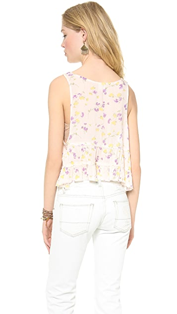 Free People Crinkle Breeze Trapeze Cami Top