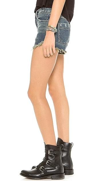 Free People Dophin Hem Shorts