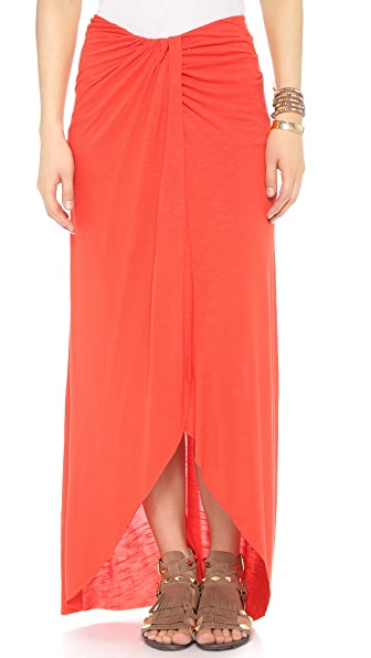 Free People Slubbed Column Skirt