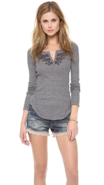 Free People Long Sleeve Battalion Top